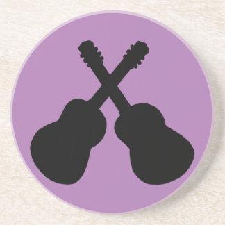 Porta-copos guitarra pretas