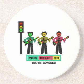 Porta-copos Guitarristas temperamentais 2 do Mustachio do trio