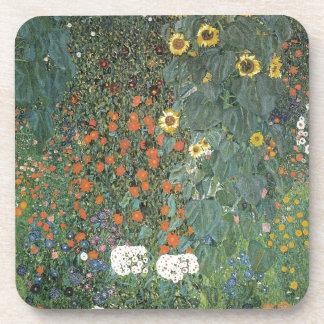 Porta Copos Gustavo Klimt - flores dos girassóis do jardim do