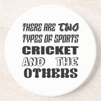Porta-copos Há dois tipos de esportes cricket e outro