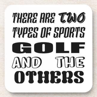 Porta Copos Há dois tipos de esportes Golf e outro