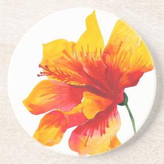Porta copos havaiana da bebida do arenito da flor