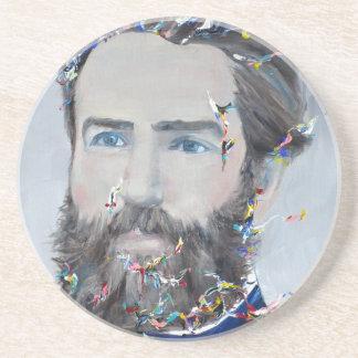 Porta-copos Herman Melville - retrato do óleo