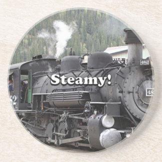 Porta-copos Húmido!: motor do trem do vapor, Colorado, EUA