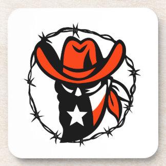 Porta-copos Ícone foragido do fio de Barb da bandeira de Texas
