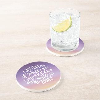 Porta copos ideal da bebida do arenito das