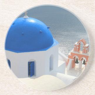 Porta-copos Igreja de Santorini na tarde Sun