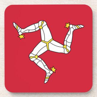 Porta Copos Ilha da bandeira do homem - bandeira Manx -