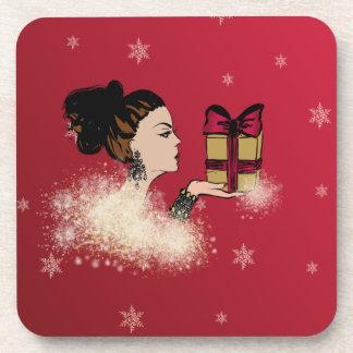 Porta Copos ilustração sparkling da forma do Natal