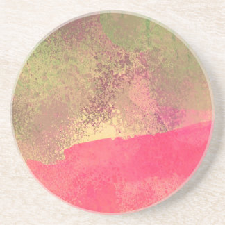 Porta-copos Impressão abstrato da aguarela do Grunge