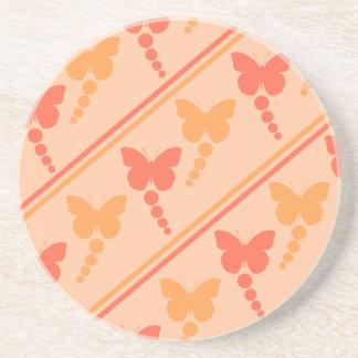 Porta-copos Impressão alaranjado cor-de-rosa das listras dos