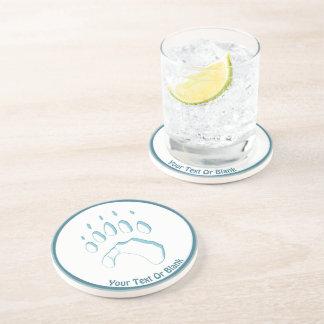 Porta-copos Impressão da pata de urso polar