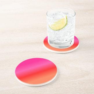 Porta-copos Inclinação cor-de-rosa, vermelho e alaranjado