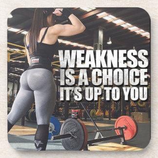 Porta-copos Inspiração do exercício das mulheres - a fraqueza