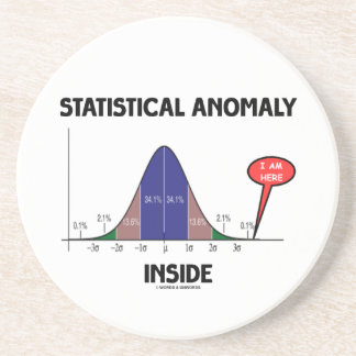 Porta-copos Interior estatístico da anomalia (curva de Bell eu