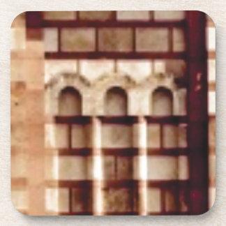 Porta Copos janela marrom do bloco