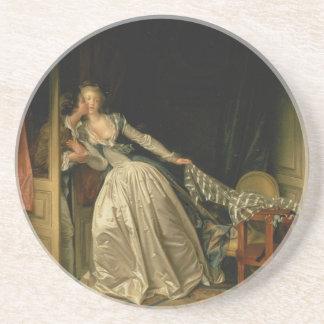 Porta-copos Jean-Honore Fragonard - o beijo roubado - belas