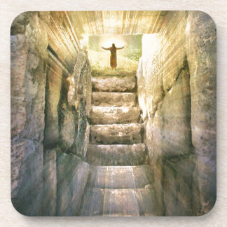 Porta Copos Jesus na ressurreição vazia da páscoa do túmulo