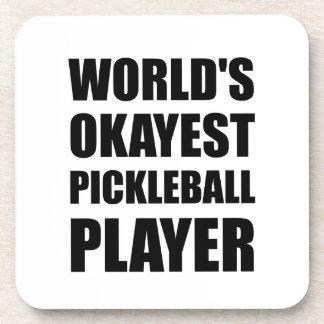 Porta-copos Jogador de Okayest Pickleball dos mundos engraçado