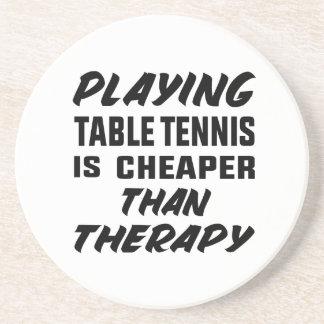 Porta-copos Jogar o ténis de mesa é mais barato do que a