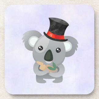 Porta Copos Koala bonito em um chapéu alto preto