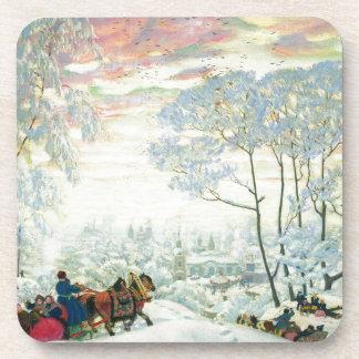 Porta-copos _Kustodiev do inverno.