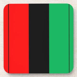 Porta-copos Kwanzaa colore o teste padrão verde preto vermelho