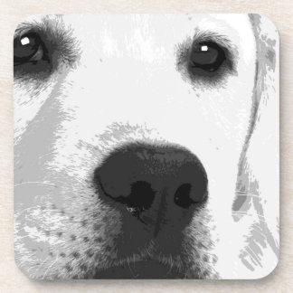 Porta-copos Labrador retriever preto e branco