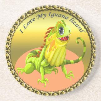 Porta-copos Lagarto feliz da iguana da natureza do verde