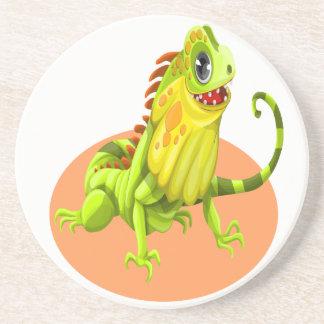 Porta-copos Lagarto feliz verde adorável da iguana da natureza