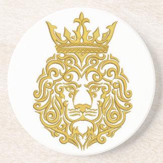 Porta-copos leão dourado na coroa