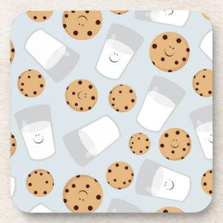 Porta-copos Leite feliz e biscoitos azuis pálido
