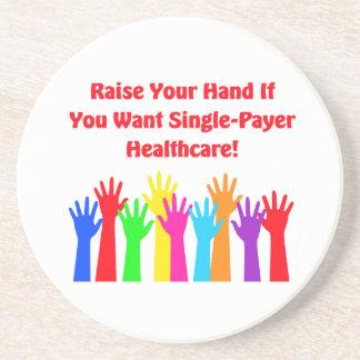Porta-copos Levante sua mão para cuidados médicos do