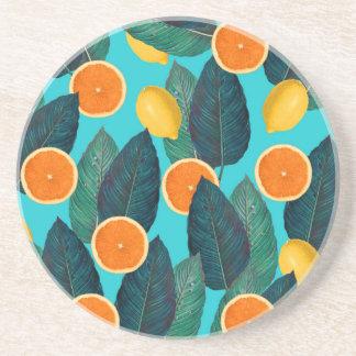 Porta-copos limões e cerceta das laranjas
