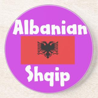 Porta-copos Língua de Albânia e design da bandeira