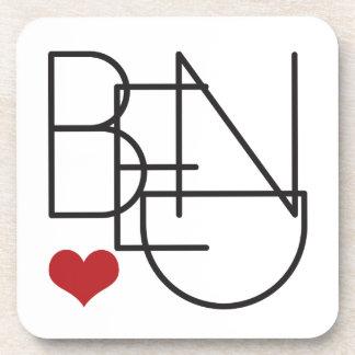 Porta-copos Logotipo do coração da palavra de Oregon da
