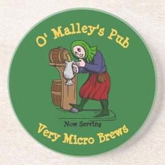 Porta-copos Logotipo Home personalizado do bar do cervejeiro