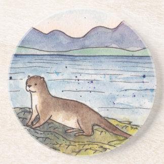 Porta-copos lontra do loch