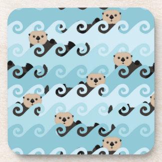 Porta-copos Lontras de mar que montam as ondas