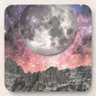 Porta Copos Lua sobre o lago mountain