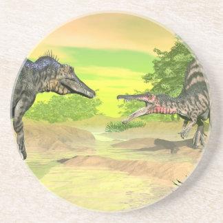 Porta-copos Luta dos dinossauros de Spinosaurus - 3D rendem