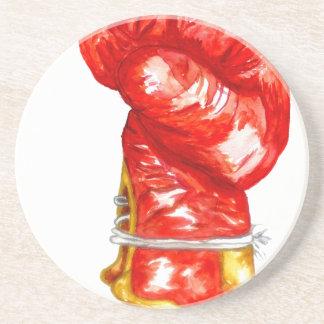 Porta-copos Luva de encaixotamento vermelha
