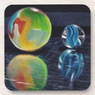 Porta-copos Luz de mármore