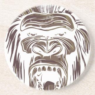 Porta-copos macaco feio do vintage