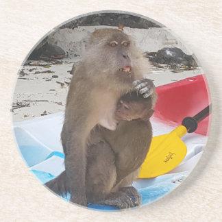 Porta-copos Mãe & bebê do macaco