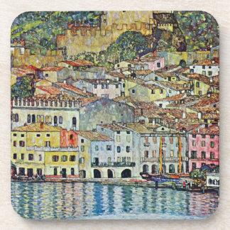 Porta-copos Malcesine no lago Garda por Gustavo Klimt
