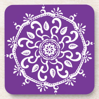 Porta Copos Mandala da beringela