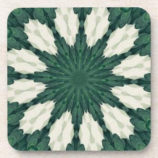 Porta Copos Mandala. da folha verde e de prata de Sacramento