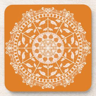 Porta-copos Mandala do tarte de abóbora
