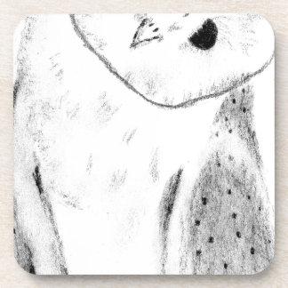 Porta Copos Mão original coruja de celeiro tirada